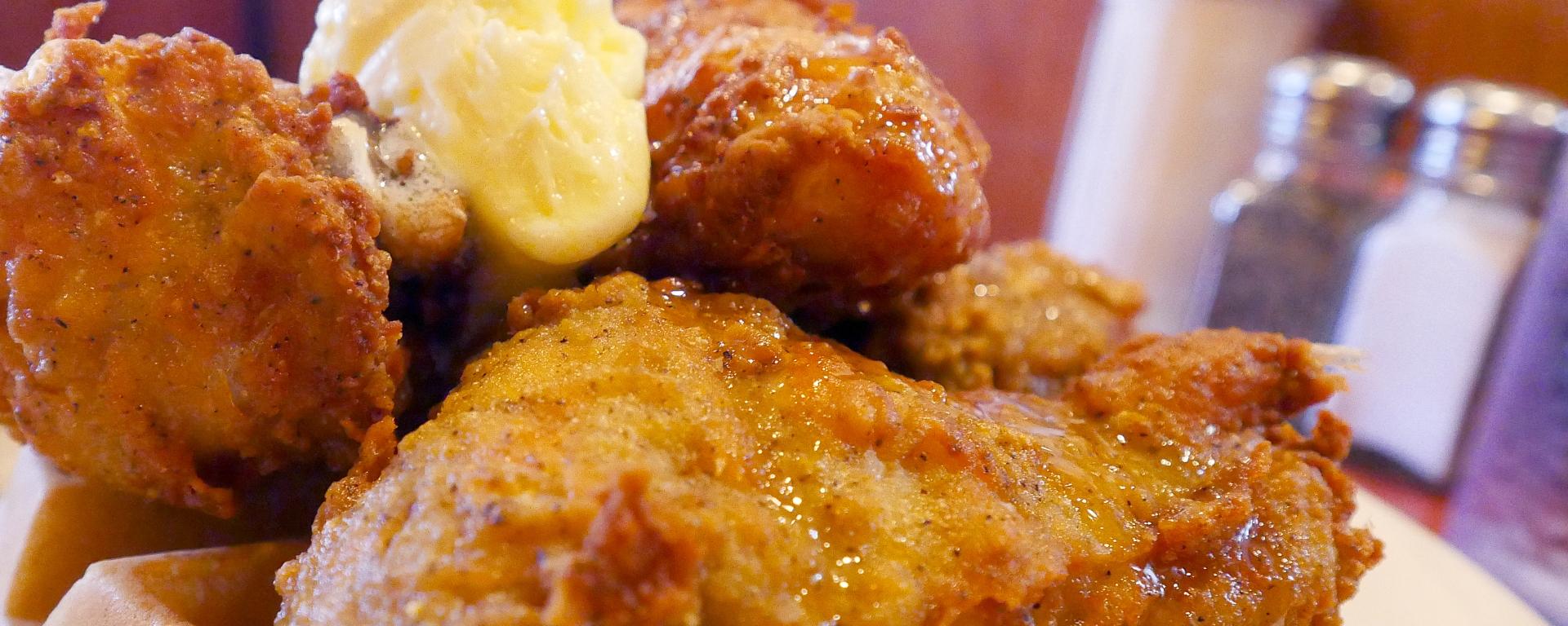 Chicken and Waffles at Bob's Big Boy